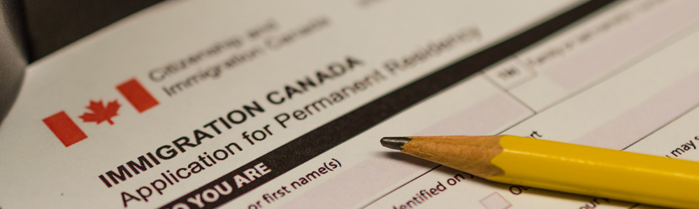 Canadian permanent residence card